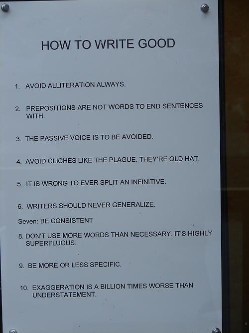 Writing Tips for the Grammar Nerd